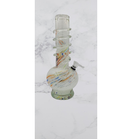 CRYSTAL GLASS ROUND BASE WATER BONG(MA 1205)
