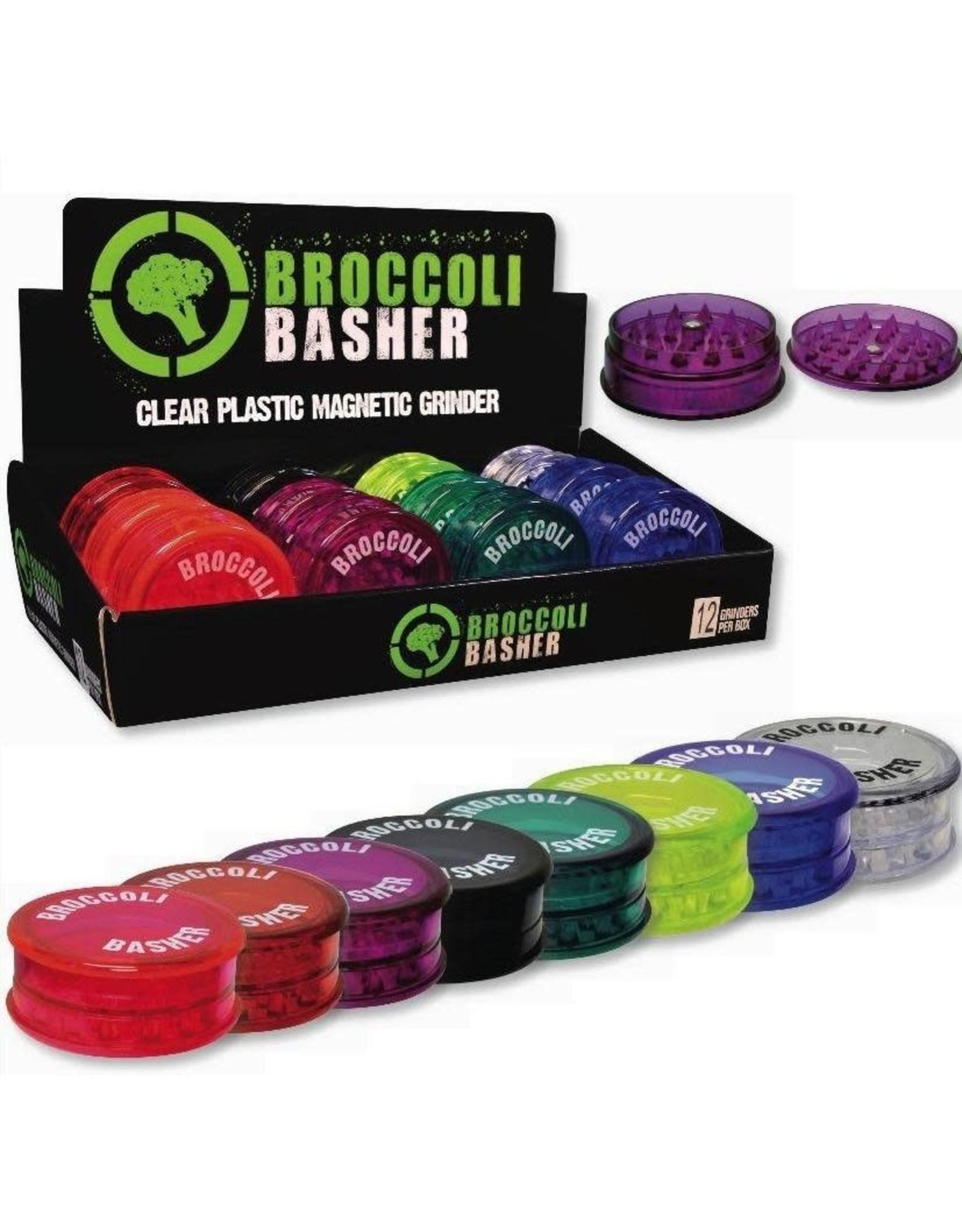 PLASTIC BROCCOLI BASHER CLEAR PLASTIC MAGNETIC GRINDER
