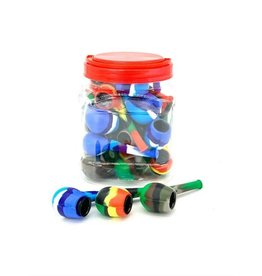 SILICONE PIPE WITH A CLASSIC MOUTHPIECE