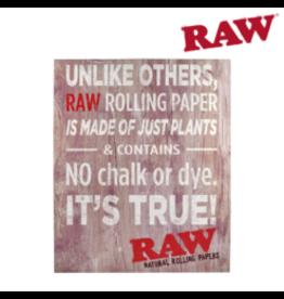 RAW RAW WOOD SIGN