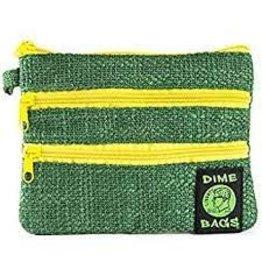 "DIME BAGS DIME BAGS 8"" ZIP LINE GREEN"
