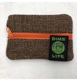 "DIME BAGS DIME BAGS 6"" ZIP LINE BROWN"