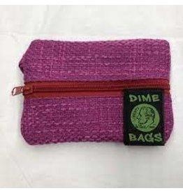 "DIME BAGS DIME BAGS 6"" ZIP LINE PINK"