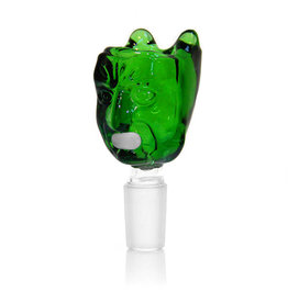 DIAMOND SCARED FACE GLASS BOWL 14MM MALE