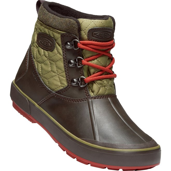 KEEN - W's - Belleterre Ankle Quilted WP - Mulch / Martini Olive - 7.5