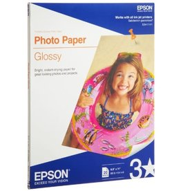 Epson PAPER-EPSON GLOSSY PHOTO, LETTER 52LB. 20/PACK