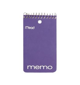 Hilroy MEMO BOOK-COIL, OPEN END 3X5 60 SHEET, ASSORTED