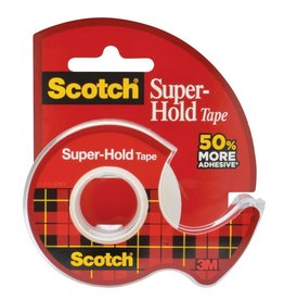 3M TAPE-TRANSPARENT SUPER-HOLD 18MMX16.5M, DISPENSER