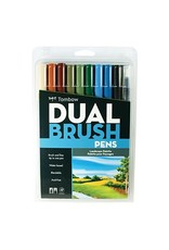 American Tombow BRUSH PEN SET-DUAL TIP, LANDSCAPE PALETTE, 10/PACK