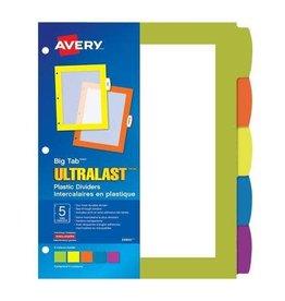 Avery Index Dividers - Big Tab Ultralast Durable, 5 Tab