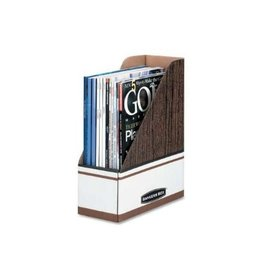 Fellowes FILE-MAGAZINE, OVERSIZED, WOODGRAIN/WHITE