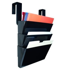 Storex PARTITION HANGING FILES-LEGAL , BLACK, 3-PACK