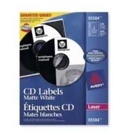Avery LABELS-CD/DVD, MATTE WHITE 200/BOX