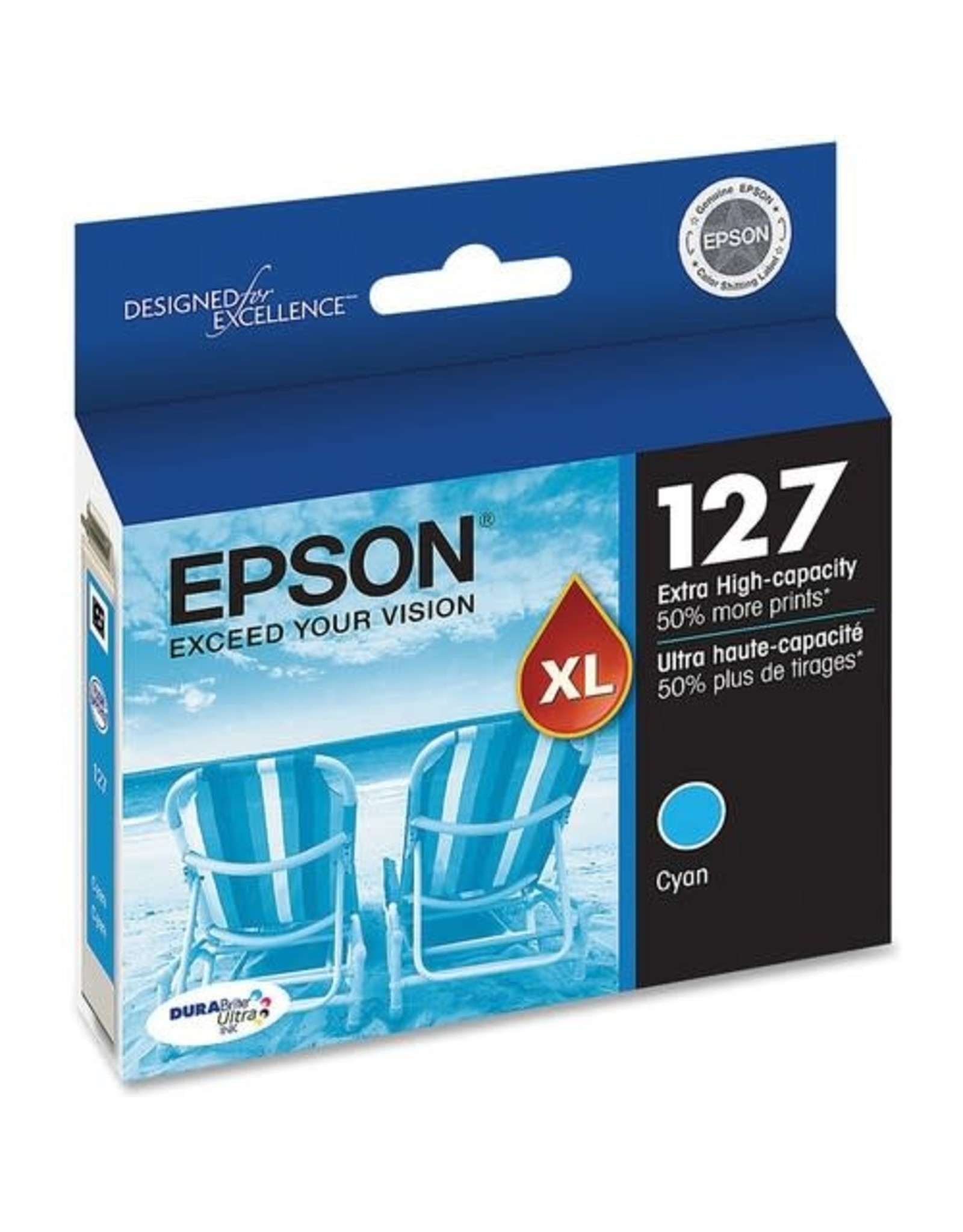 Epson INKJET CARTRIDGE-EPSON #127XL CYAN EXTRA HIGH YIELD