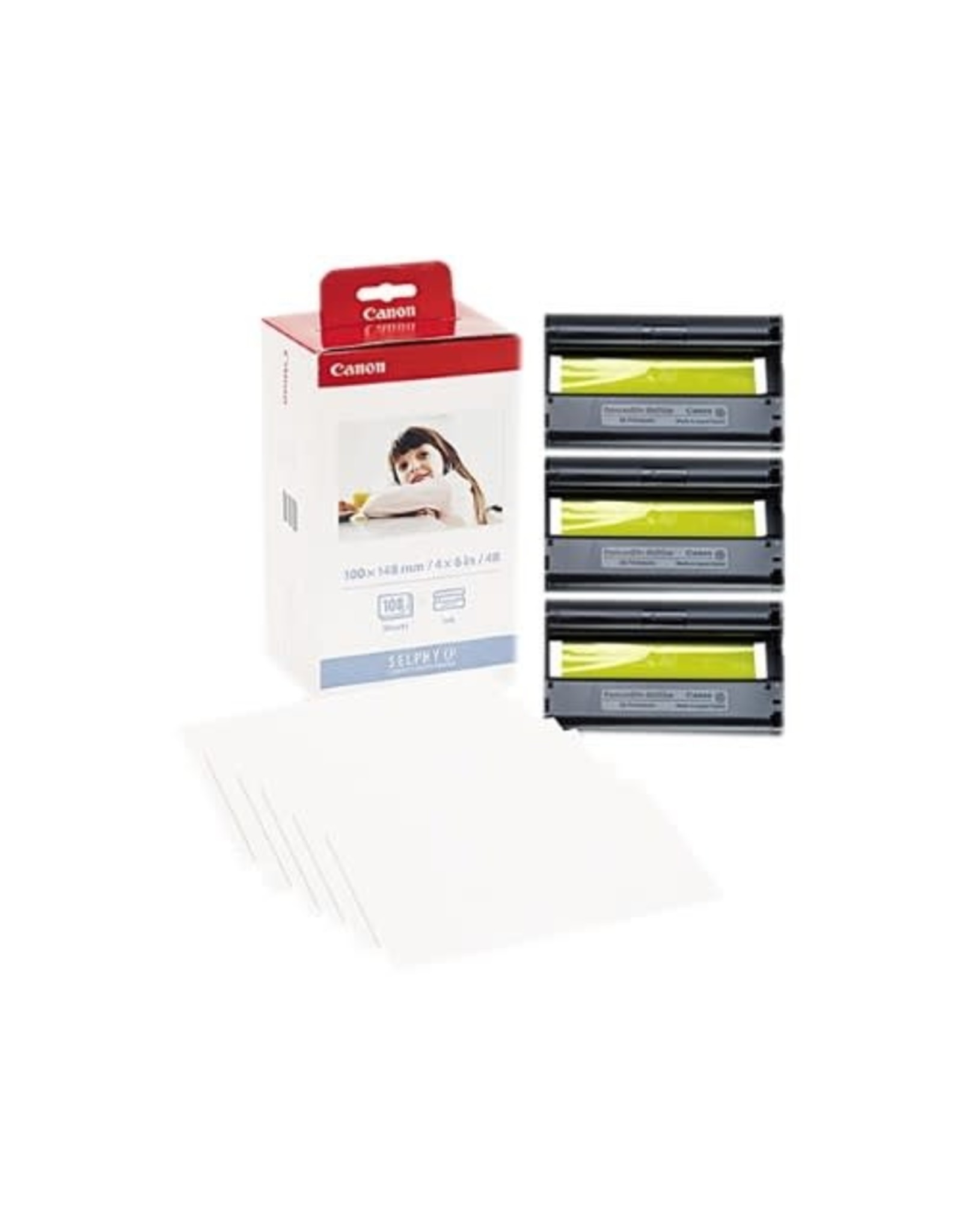 Canon INKJET CARTRIDGE-CANON KP-108IN COLOUR WITH 4X6 GLOSSY PAPER