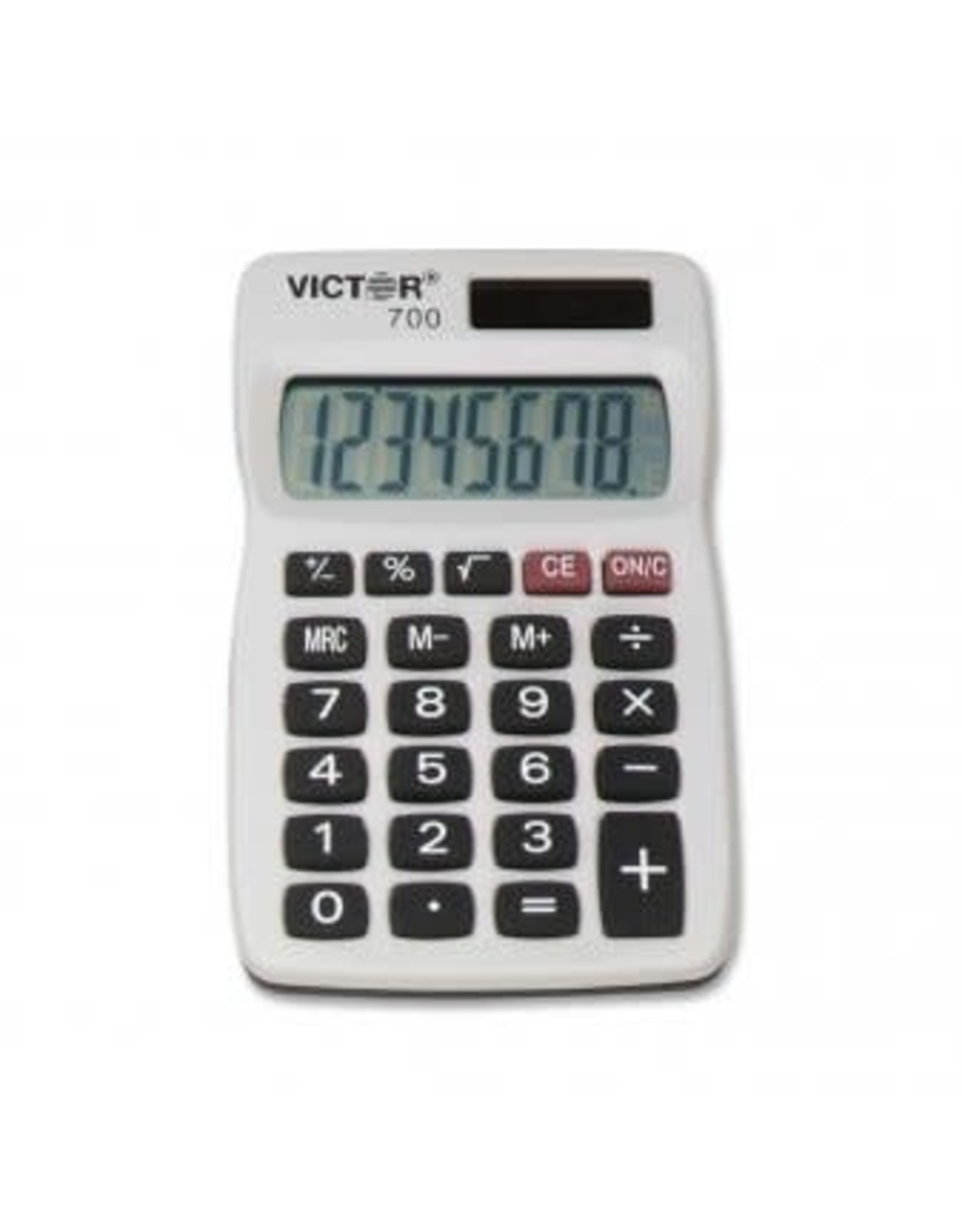 Victor Technology CALCULATOR-HANDHELD SOLAR/BATTERY 8 DIGIT X-LARGE DISPLAY