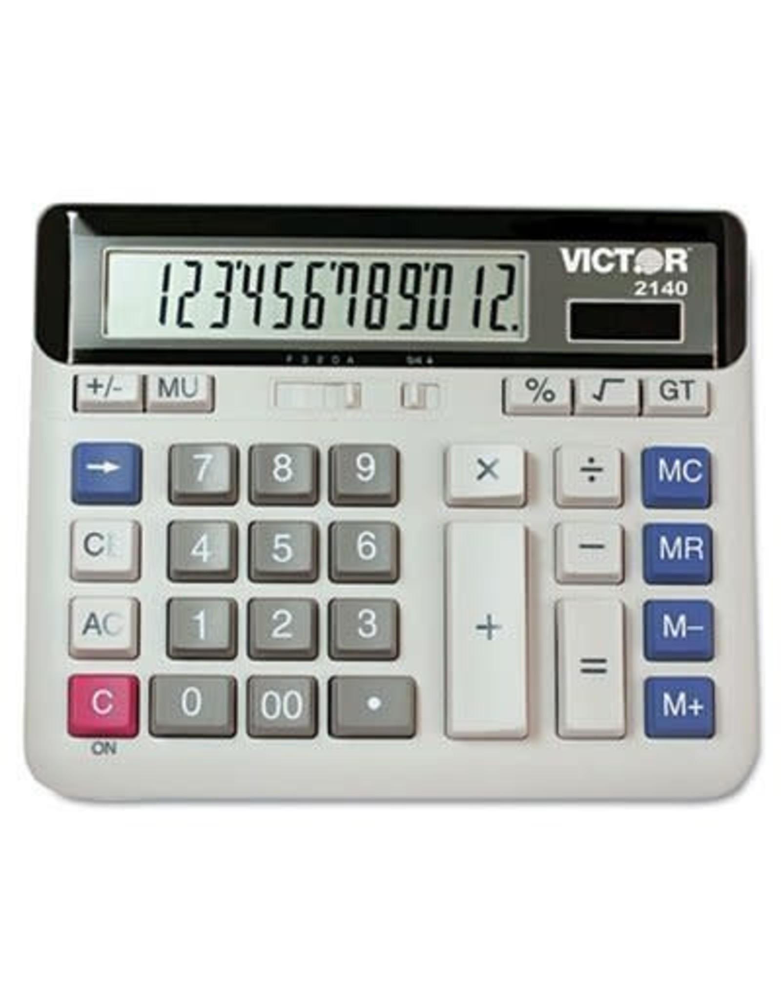 Victor Technology CALCULATOR-DESKTOP SOLAR/BATTERY 12 DIGIT ANGLED DISPLAY