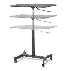 Victor Technology SIT STAND DESK-HIGH RISE MOBILE ADJUSTABLE, BLACK