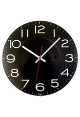 "Artistic Products CLOCK-11.5"" ROUND, RIMLESS, BLACK"