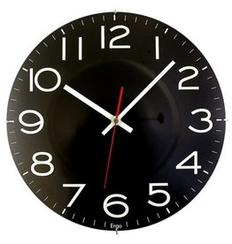 """Artistic Products CLOCK-11.5"""" ROUND, RIMLESS, BLACK"""