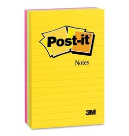 Post-it NOTES-POST-IT, LINED 4X6 JUIPUR COLLECTION