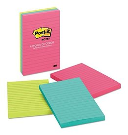 Post-it NOTES-POST-IT, LINED 4X6 CAPE TOWN COLLECTION