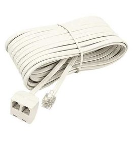 Artistic Products TELEPHONE EXTENSION CORD-25' 2-OUTLET IVORY
