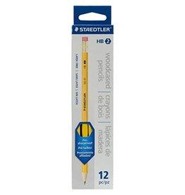 STAEDTLER PENCIL-STAEDTLER TIPPED, PRESHARPENED NO.2 HB 12/BOX