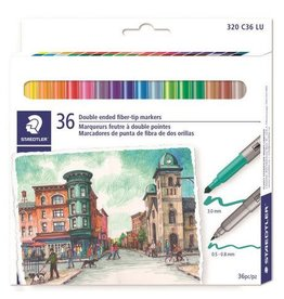 STAEDTLER MARKER SET-DUO-COLOR DOUBLE-ENDED, 36 COLOURS