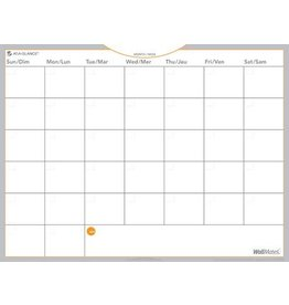 Hilroy PLANNER-WALL, MONTH 24X18 WALLMATES SELF-ADHESIVE UNDATED