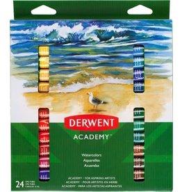 Derwent PAINT SET-WATERCOLOUR, DERWENT ACADEMY, 24 12ML. TUBES