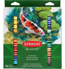 Derwent PAINT SET-ACRYLIC, DERWENT ACADEMY 24 12ML. TUBES