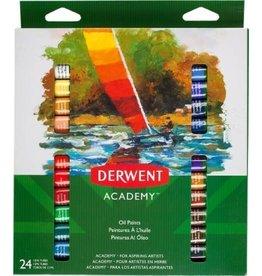 Derwent PAINT SET-OIL, DERWENT ACADEMY, 24 12ML. TUBES