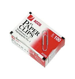 ACCO Brands PAPER CLIPS-#3 PLAIN SILVER