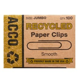 ACCO Brands Paper Clips - #4 Jumbo Recycled 100/pack