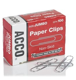 ACCO Brands PAPER CLIPS-#4 JUMBO CORRUGATED SILVER
