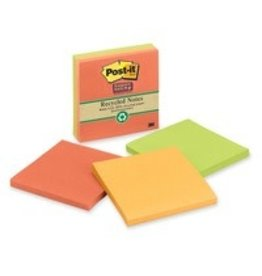 Post-it NOTES-POST-IT, SUPER STICKY 3X3 BALI COLLECTION RECYCLED