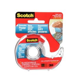 3M TAPE-POSTER, DOUBLE STICK, REMOVABLE