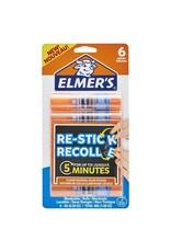 Elmer's GLUE STICK- REPOSITIONABLE, ELMER'S 8G, RE-STICK, 6/PACK