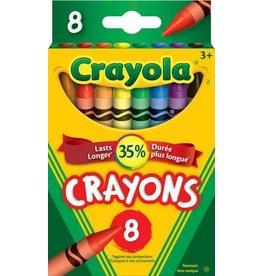 Crayola CRAYONS-CRAYOLA 8 COLOURS, HANG-TAB BOX