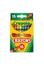 Crayola CRAYONS-CRAYOLA 16 COLOURS, HANG-TAB BOX