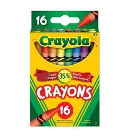 Crayola CRAYONS-CRAYOLA 16 COLOURS, HANG-TAB BOX