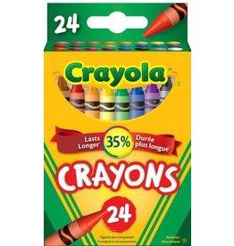 Crayola CRAYONS-CRAYOLA 24 COLOURS, HANG-TAB BOX