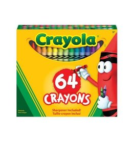 Crayola CRAYONS-CRAYOLA 64 COLOURS/ BUILT-IN SHARPENER