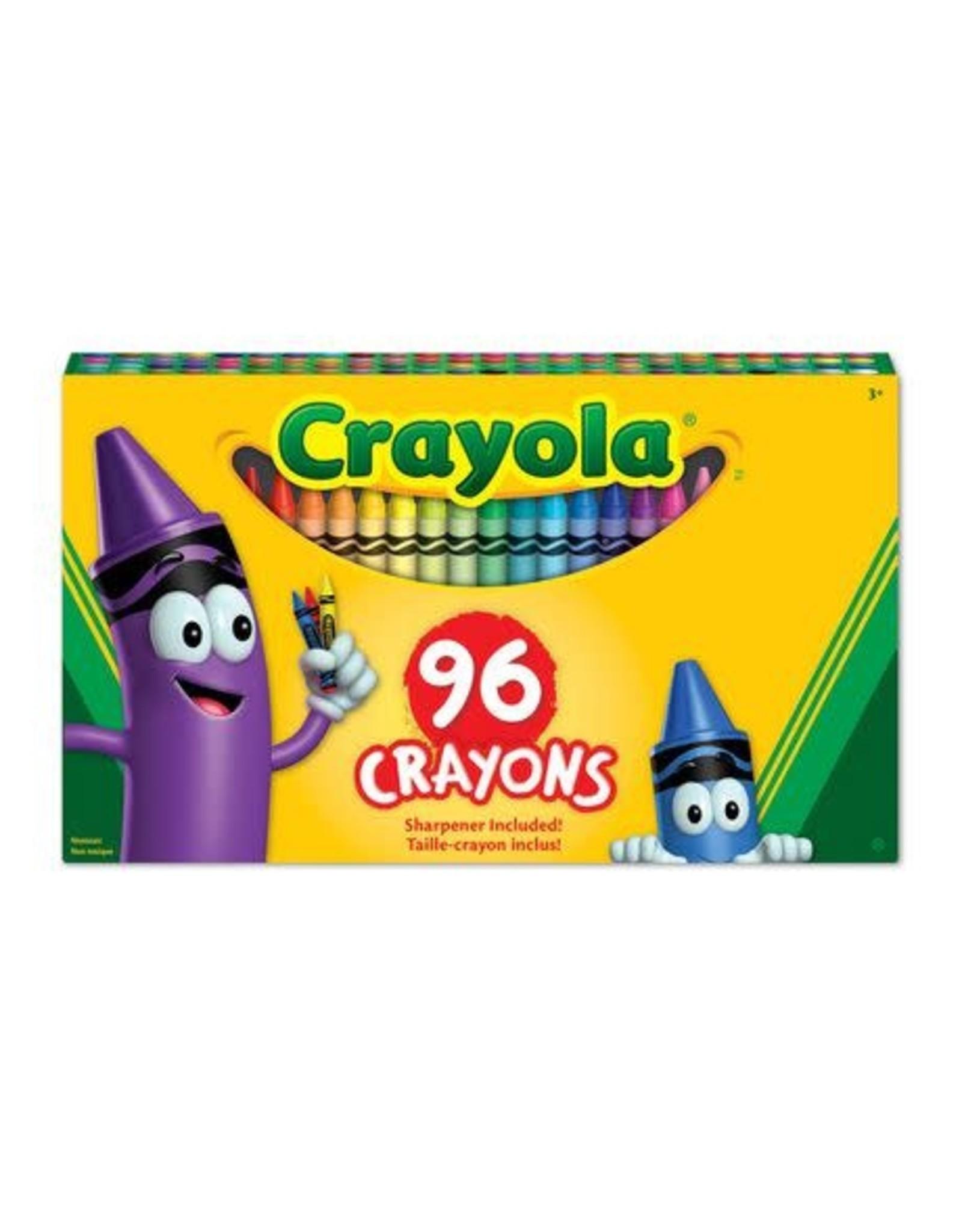 Crayola CRAYONS-CRAYOLA BIG BOX, 96 CRAYONS/ BUILT-IN SHARPENER