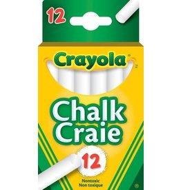Crayola CHALK-CRAYOLA, WHITE 12 STICKS/HANG-TAB BOX