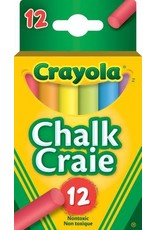 Crayola CHALK-CRAYOLA, COLOURED 12 STICKS/HANG-TAB BOX
