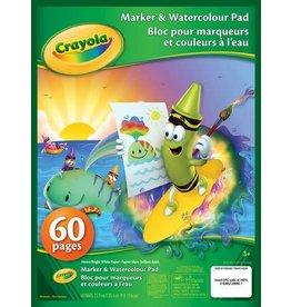 Crayola WATERCOLOUR & MARKER PAD-9X12 CRAYOLA