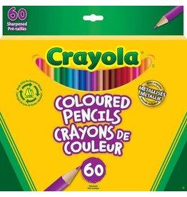 Crayola PENCIL SET-COLOURED, CRAYOLA 60 COLOURS, PRE-SHARPENED