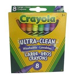 Crayola CRAYONS-CRAYOLA 8 LARGE WASHABLE, HANG TAB BOX